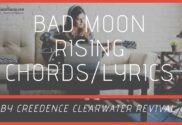 bad moon rising chords