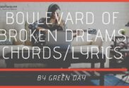 boulevard of broken dreams chords