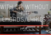 with or without you chords