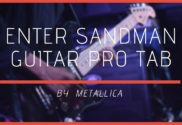 enter sandman guitar pro