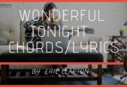 wonderful tonight chords