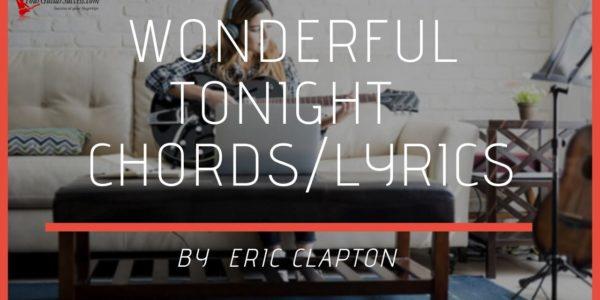 wonderful tonight chords
