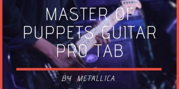 master of puppets guitar pro
