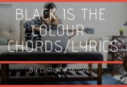 black is the colour chords