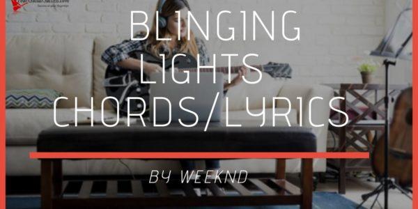 blinding lights chords