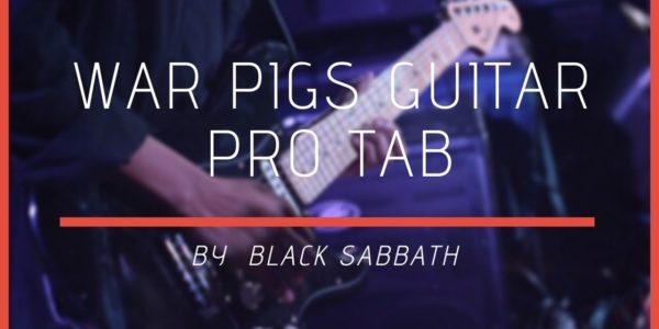 war pigs guitar pro