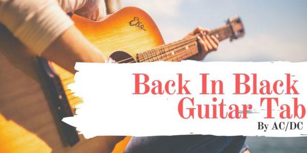 back in black guitar tab