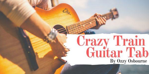 crazy train guitar tab