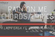 rain on me chords