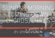 sunday morning coming down chords