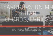 teardrops on my guitar chords