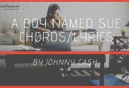 a boy named sue chords