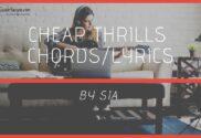 cheap thrills chords