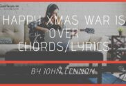 happy xmas war is over chords